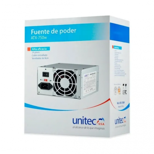 FUENTE PODER ATX 750 UNITEC