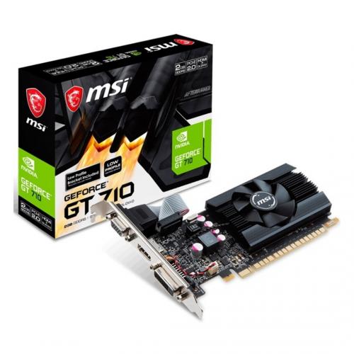 TARJETA VIDEO MSI GEFORCE 2GB GT-710 DDR 3/HDMI/DVI